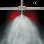 No drip external mix atomizing nozzles