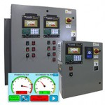 Touch screen controller monitoring industrial dust collectors