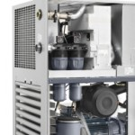 Oil-injected screw compressor range driven by efficiency