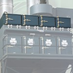 Cartridge dust collector with integrated HEPA safety monitoring filter