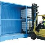 Outdoor storage for dangerous goods is relocatable and versatile