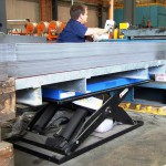 Scissor lift tables can be customised to order