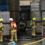 Plastics factory fire hospitalises two