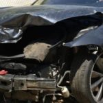 The driver's insurance company has declared the Model S a total loss. Image: Mark Molthan/Bloomberg