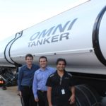 Taken by Mark Ovens, this image shows: Left to Right: Dr. Garth Pearce, Academic Mentor, Faculty of Engineering UNSW; Luke Djukic, Chief Technical Officer, Omni Tankers (renamed March 2016 from Evolution Tankers) ; Thinu Herath, AMSI Intern.