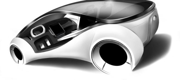 A concept drawing of Apple's self-driving car from its Project Titan (VR Zone)