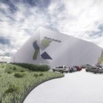 Concept art of the XLam factory in Albury-Wodonga (XLam Australia)