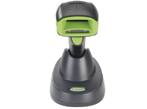 One of Honeywell's new products, the Xenon 1902g wireless battery-free scanner