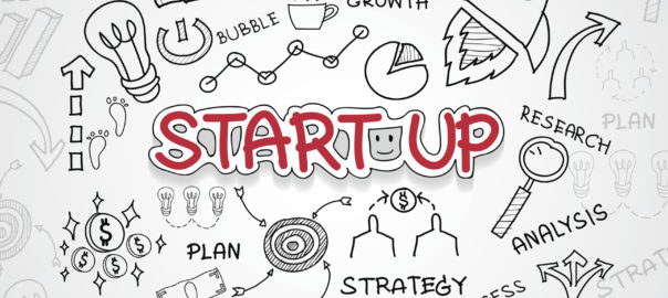 Start up text, With creative drawing charts and graphs business success strategy plan idea, Inspiration concept modern design template workflow layout, diagram, step up