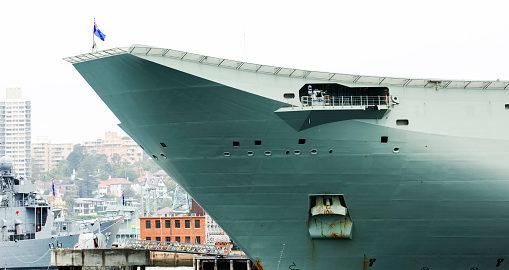 Australian Navy ship docket at Sydney Harbour