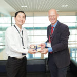 Professor Louis Phee, Acting Dean, College of Engineering at NTU Singapore, and University of Sydney Faculty of Engineering and IT Interim Dean Professor Kim Rasmussen.