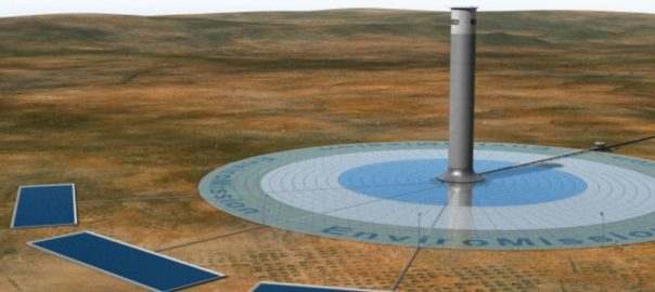 The proposed La Paz solar tower in Arizona Source: EnviroMission