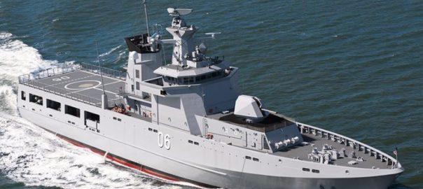 An Offshore Patrol Vessel, designed by Lürssen. Source: Navy