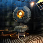 The new receiver being tested in the CSIRO's anechoic chamber. Source: CSIRO
