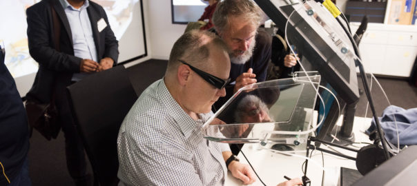 Demonstration of technology at the Immersive Environments lab. Source: CSIRO
