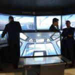 Navantia's integrated training system Navantis on display at the PACIFIC 2017 summit. Navantis is a combined IPMS and navigation virtual simulator providing 2D and 3D IPMS views and interconnects with different ship simulators to allow simultaneous training of ship crews.