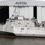 Independence (LCS-2) at Austal USA facility in Mobile, AL Picture courtesy of Austal