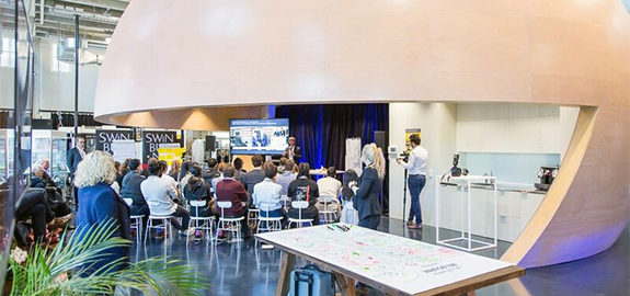 The Smart Melbourne Scholarships were announced as part of the BMW Group Dialogues program – an international mobility forum held in Swinburne's Factory of the Future. Picture courtesy of Swinburne.