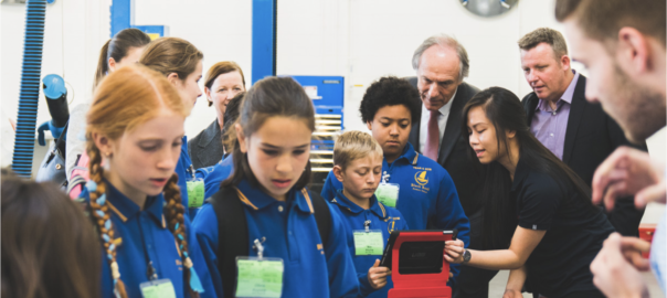Dr Alan Finkel, Australia's Chief Scientist, attends the launch of the Learn@Bosch program