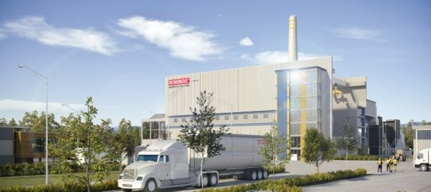 An artist's impression of the proposed Remondis facility at Swanbank. Source: www.energyfromwaste.com.au