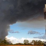 Bushfire threatens Alcoa sites