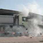 Volvo lets four year old 'test drive' truck