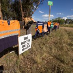 Drayton South miners hang shirts in protest