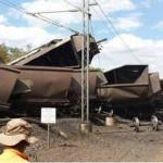 Coal train crash in Queensland