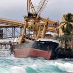 Phosphate cargo ship broken up off Christmas Island