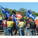 Day Two of strike action in Gladstone