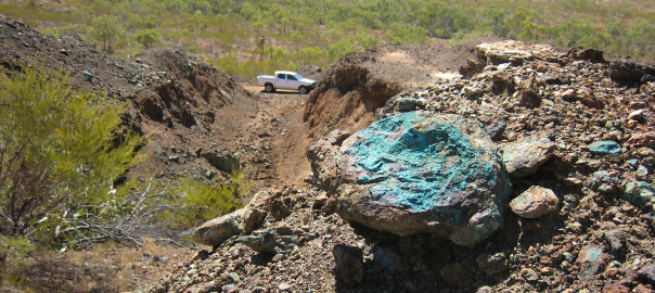 Chrysocolla (copper) at Trafalgar Mine
